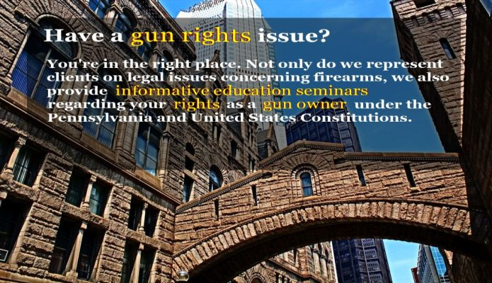 Have a gun rights issue?